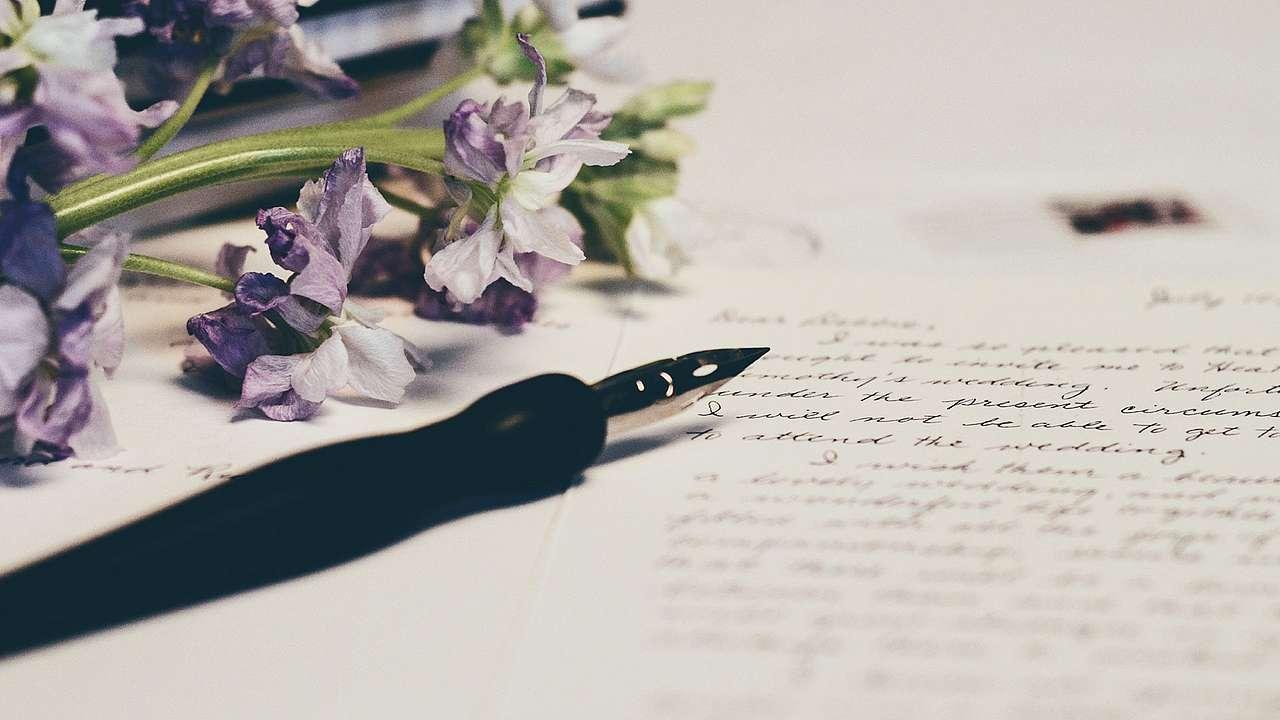 Einen perfekten liebesbrief schreiben