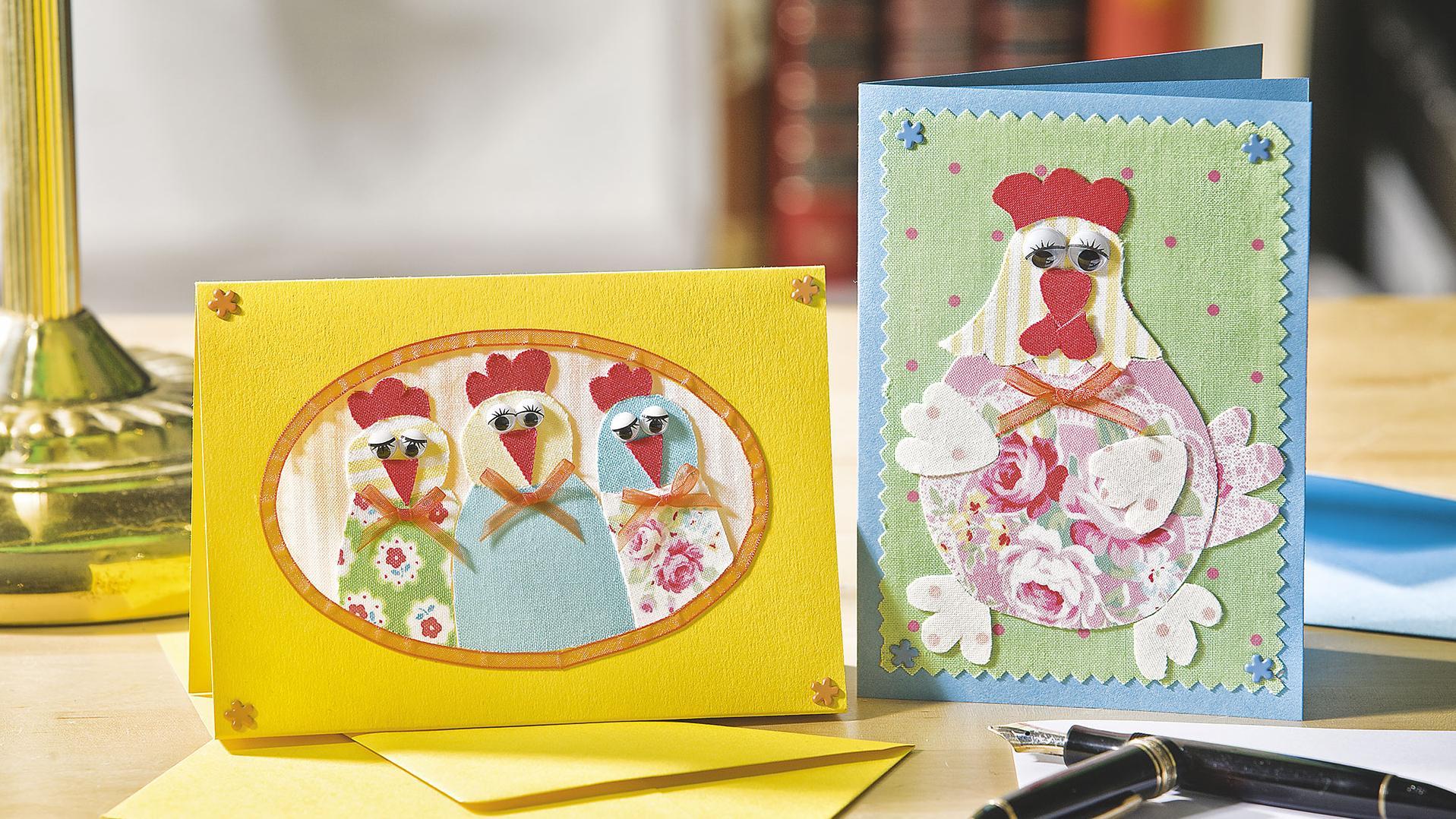 ostergrußkarten mit patchwork  amicellade