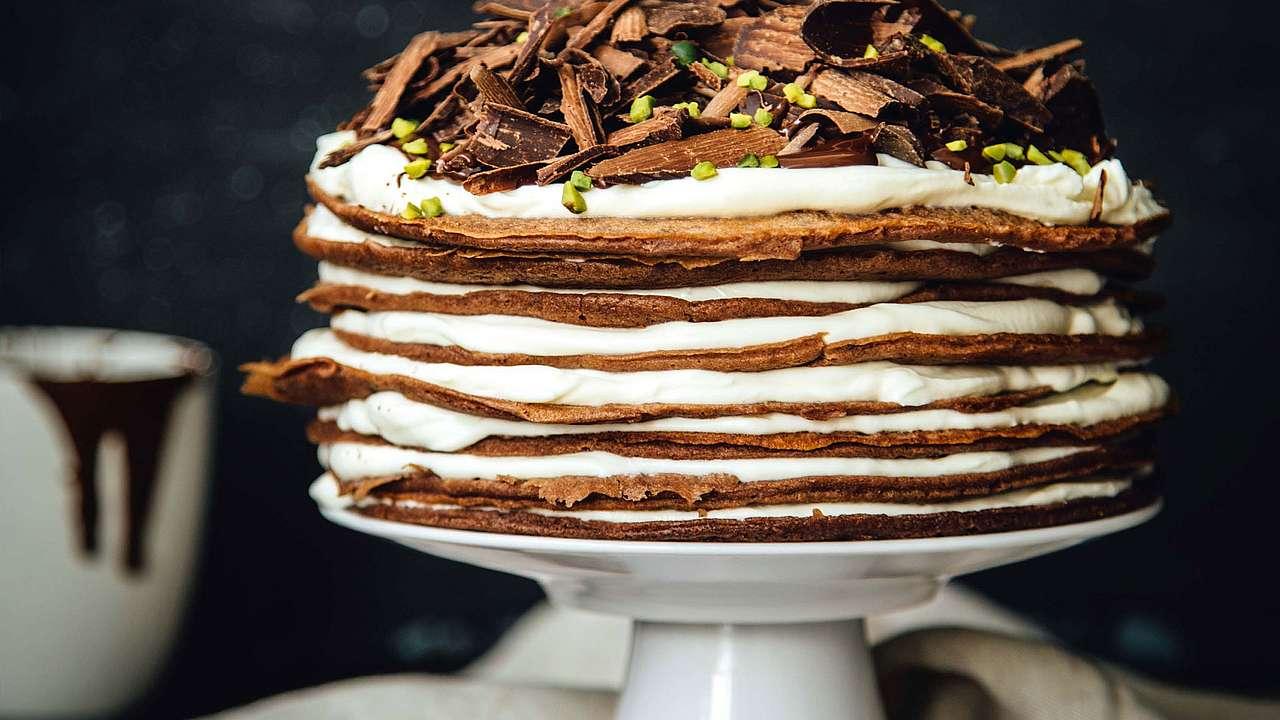 Schokoladen Pfannkuchen Torte Amicella De