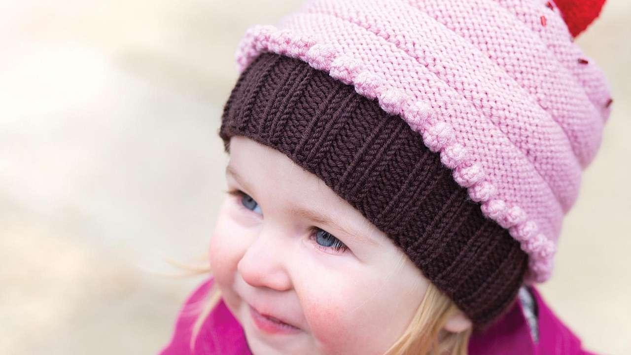 Strickanleitung Kindermütze Cupcake Amicellade