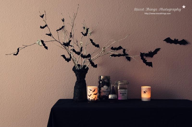 einfache ideen f r schaurig sch ne halloween deko. Black Bedroom Furniture Sets. Home Design Ideas