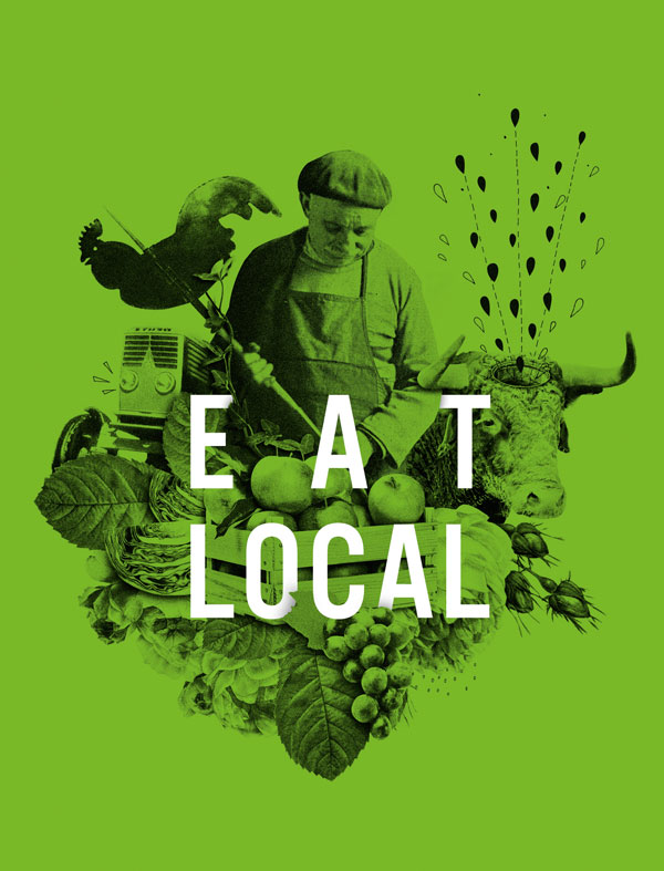 Illustration aus dem Buch Clean Your Life / Text: Eat Local