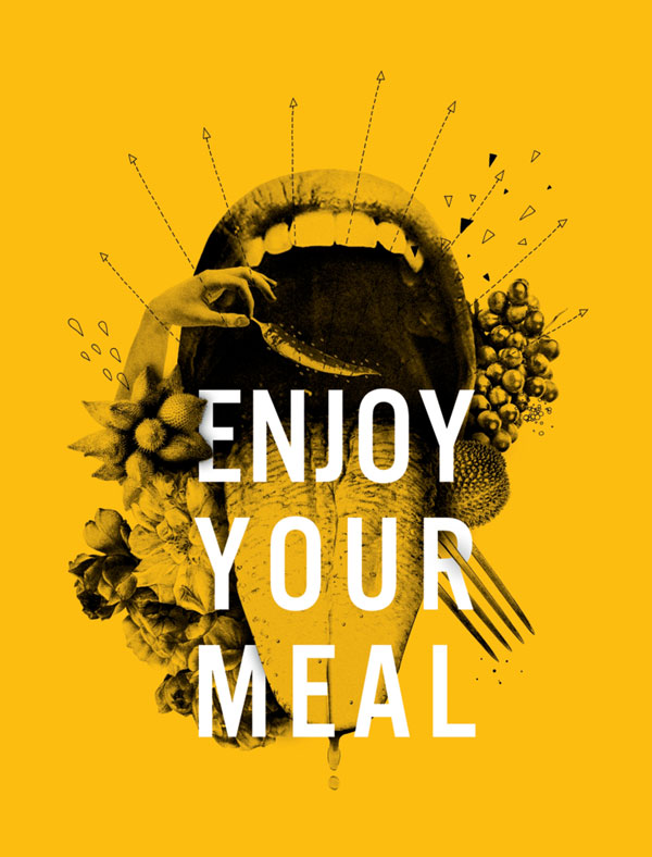 Illustration aus dem Buch Clean Your Life / Text: Enjoy Your Meal