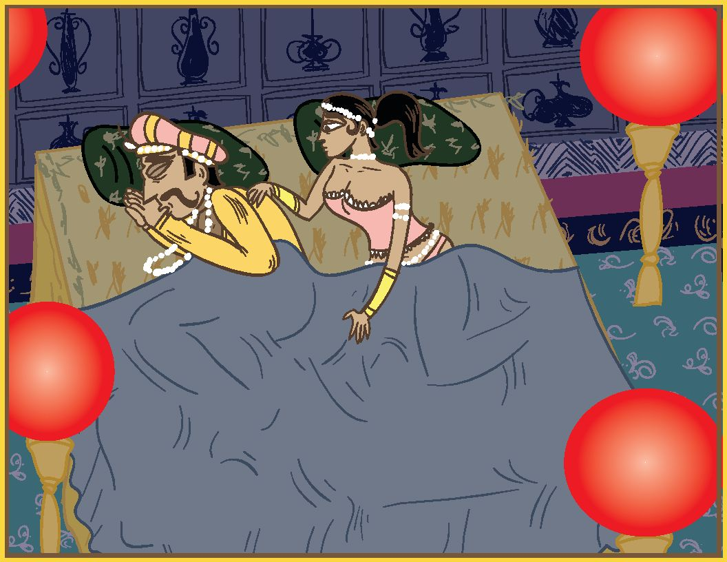 "Illustration aus ""Das Ehe-Kamasutra"""