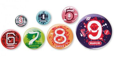 Baby Countdown Buttons