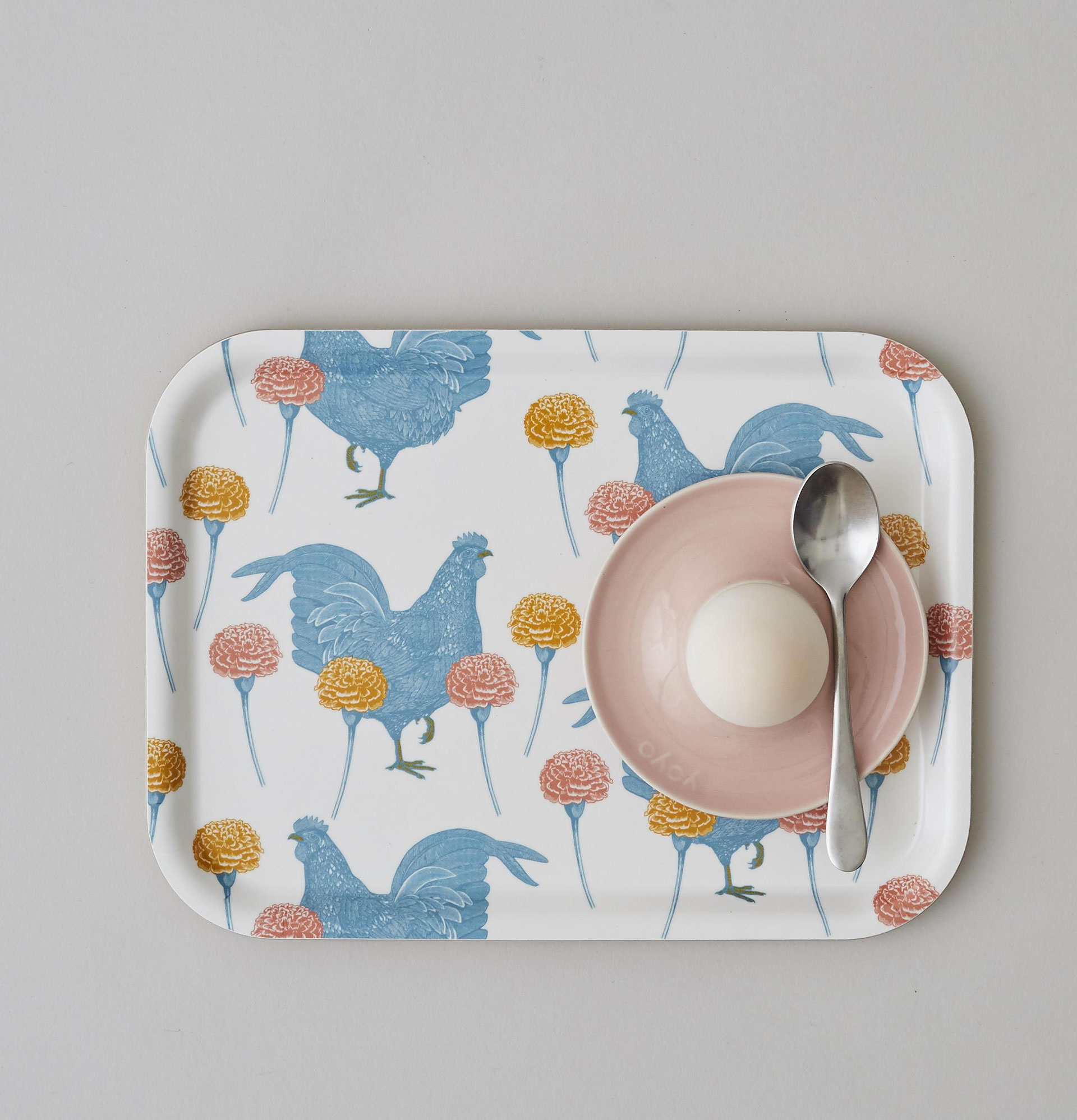 Chicken and Carnation Tray